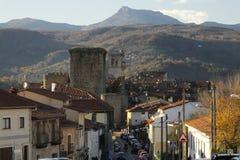 Slott av Miranda del Castañar Fotografering för Bildbyråer