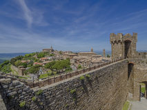 Slott av Montalcino Royaltyfria Foton