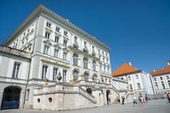 Slott av Nymphenburg Royaltyfria Bilder
