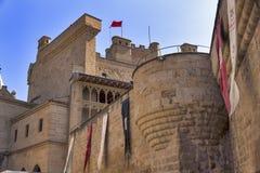 Slott av Olite, Navarra, Spanien Royaltyfri Fotografi