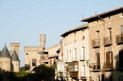 Slott av Olite - Spanien Royaltyfria Bilder