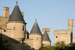 Slott av Olite - Spanien Arkivbilder