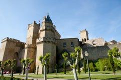 Slott av Olite - Spanien Arkivfoto