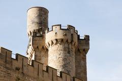 Slott av Olite torn - Spanien Arkivfoton