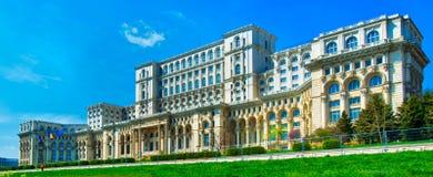 Slott av parlamentet, Bucharest Royaltyfri Bild