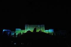 Slott av parlamentet Bucharest fotografering för bildbyråer