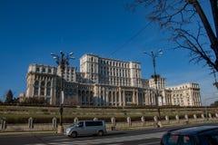 Slott av parlamentet Bucharest, huvudstad av Rumänien royaltyfri bild