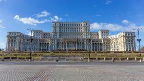 Slott av parlamentet, Bucharest, Rumänien royaltyfri bild