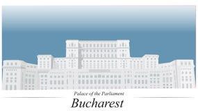 Slott av parlamentet Bucharest vektor illustrationer