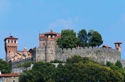 Slott av Pavone Canavese Royaltyfri Foto