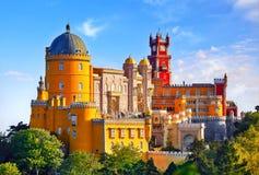 Slott av Pena i Sintra lisbon portugal royaltyfri foto