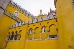 Slott av Pena Sintra Portugal Arkivfoto