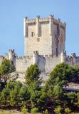 Slott av Penafiel, Valladolid, Spanien Royaltyfri Fotografi