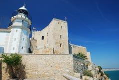 Slott av Peniscola Arkivbild