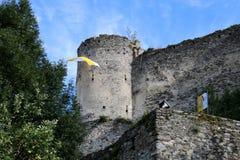 Slott av Petersberg, Friesach, Carinthia, Partoof Oberhofen Arkivbild