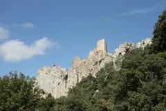 Slott av Peyrepertuse Arkivbild