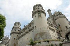 Slott av Pierrefonds Arkivbild