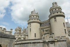 Slott av Pierrefonds Arkivbilder