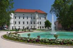 Slott av Porcia i staden av Spittal en der Drau royaltyfria bilder