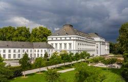Slott av prinsvalmännen av trieren i Koblenz Arkivbild