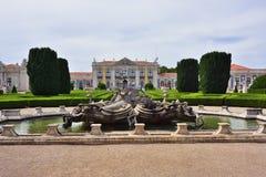 Slott av Queluz i Portugal Royaltyfria Foton