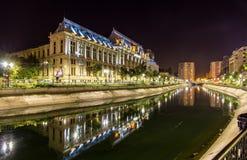 Slott av rättvisa i Bucharest Fotografering för Bildbyråer