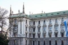 Slott av rättvisa - Justizpalast i Munich, Bayern, Tyskland royaltyfri bild