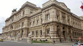 Slott av rättvisa Palazzo di Giustizia Royaltyfri Fotografi