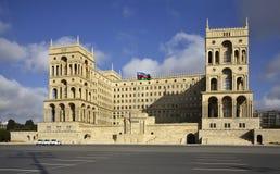 Slott av regeringen av Azerbajdzjan i Baku _ Royaltyfri Bild