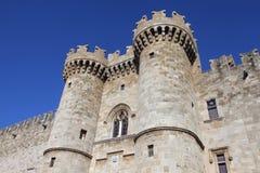 Slott av riddarna, Rhodes Royaltyfria Bilder