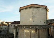 Slott av Roman Emperor Diocletianus i Unesco-arvstaden av splittring Arkivbilder