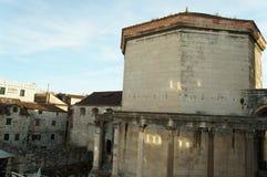 Slott av Roman Emperor Diocletianus i Unesco-arvstaden av splittring Arkivfoton