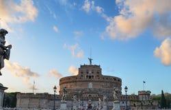 Slott av San Angelo Castel Sant Angelo, Rome, Italien royaltyfria foton