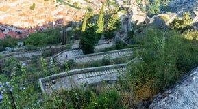 Slott av San Giovanni, St John fästning, Kotor, Montenegro arkivbild