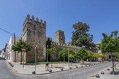 Slott av San Marcos i El Puerto de Santa Maria arkivbild