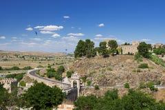 Slott av San Servando i Toledo, Spanien Arkivbild