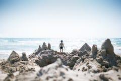 Slott av sand arkivfoton