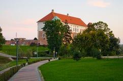 Slott av Sandomierz, Polen Arkivbild