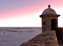 Slott av Santa Catalina i Cadiz Royaltyfri Bild