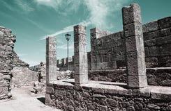 Slott av Santa Maria da Feira Arkivfoton