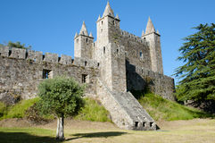 Slott av Santa Maria da Feira - Portugal Royaltyfri Fotografi