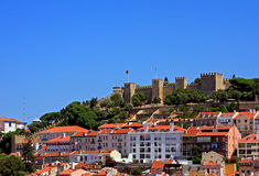 Slott av Sao Jorge Arkivfoto