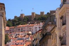 Slott av Sao Jorge Fotografering för Bildbyråer
