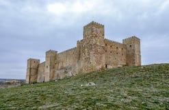 Slott av Siguenza Guadalajara Spanien Arkivbild