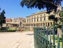 Slott av St Michael och St George i Korfu arkivbild