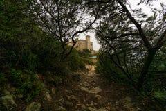 Slott av Tamarit Arkivfoto