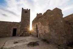 Slott av Tocra royaltyfri foto