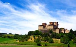 Slott av Torrechiara Royaltyfria Foton