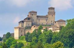 Slott av Torrechiara Emilia-Romagna italy Royaltyfria Foton