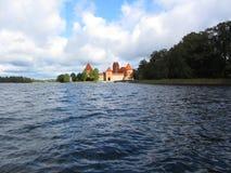 Slott av Trakai Arkivbild